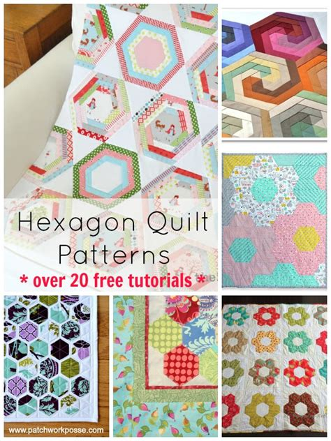 Patchwork Patterns For Free - hexagon quilt pattern 20 designs and ideasto sew your next