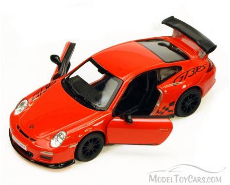 porsche toy 2010 porsche 911 gt3 rs orange kinsmart 5352d 1 36