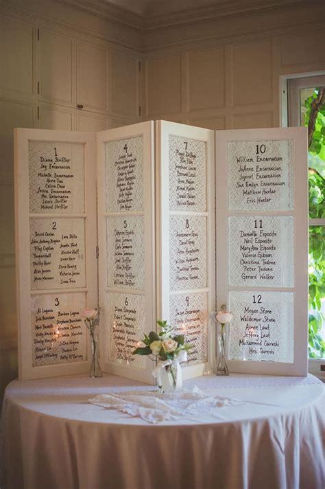 sea shell theme beach wedding seating chart monogram wedding