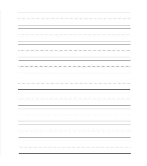 blank preschool writing paper lined writing paper with drawing box primary handwriting