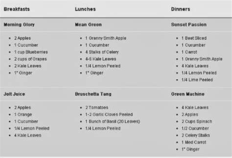 Liquid Detox Diet Plan by Juice Cleanse Diet Plan Pink Blossoms