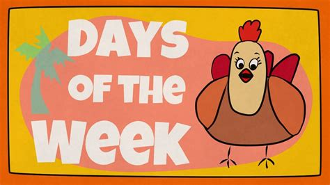 children of the days days of the week song the singing walrus youtube