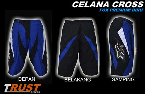 Celana Cross Fox trust riders celana cross pendek fox premium biru