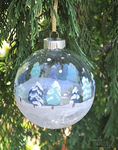 Home Decor Trends Winter 2016 decoart blog crafts hand painted winter scene ornaments