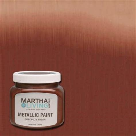 martha stewart living 10 oz copper metallic paint 4 pack 259284 the home depot