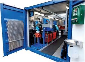 Diesel Injector Test Bench Workshop Container Chris Marine