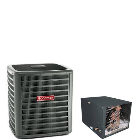 capacitor goodman heat 2 5 ton goodman 14 seer r410a air conditioner condenser with 17 5 quot horizontal cased