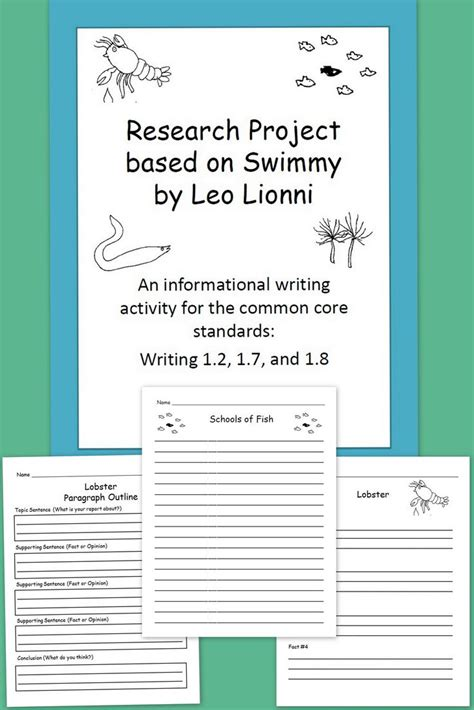 writing effective content project specifications books 24 best images about swimmy non fiction unit on