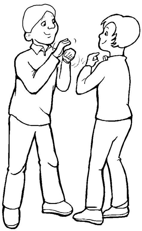 imagenes infantiles hablando dos personas hablando para colorear pyp pinterest