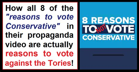 7 Reasons To Vote by 8 Reasons To Not Vote Conservative