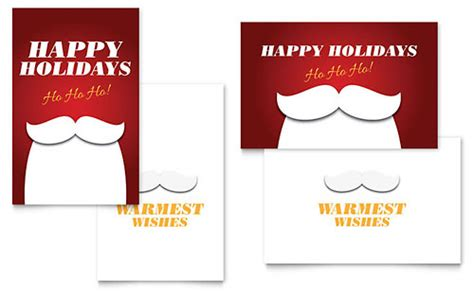 holiday note cards christmas spirit design 2 per page office