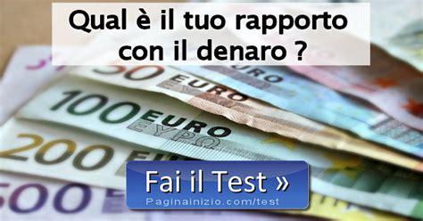 pagina inizio test test sul rapporto con il denaro
