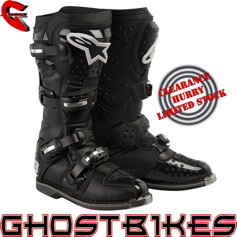 motocross boots clearance alpinestars tech 8 light mx motocross boots black 12 48