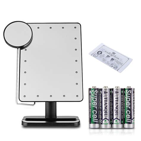 10x lighted makeup mirror touch 10x magnifying 20 led lighted makeup mirror portable