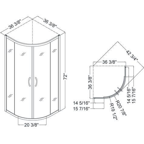 Standard Glass Shower Door Size Bath Authority Dreamline Prime Frameless Sliding Shower Enclosure Base And Qwall 4 Shower