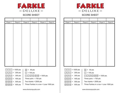 printable rules for farkle dice game printable farkle score sheet template pictures to pin on