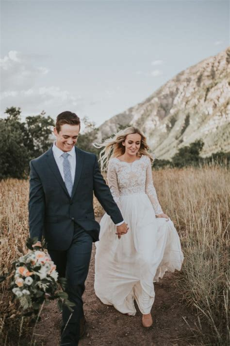 Wedding Day Photos by Insanely Beautiful Look Photos In The Utah Mountains