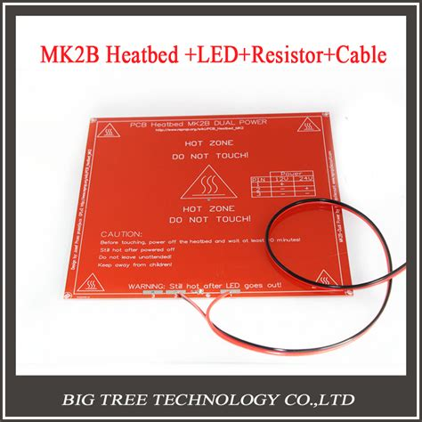 heatbed resistor reprap mendel pcb heatbed mk2b with led and resistor and cable for mendel 3d printer bed 3d