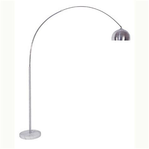 arch floor lamp  marble base chrome nickel finish  ebay