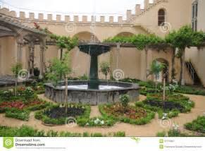 giardino medievale giardino medievale fotografia stock libera da