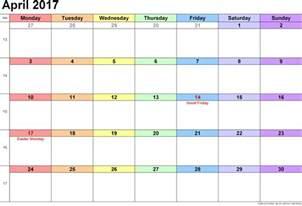 Calendar 2018 Empty April 2017 Calendar Printable Blank Templates Blank