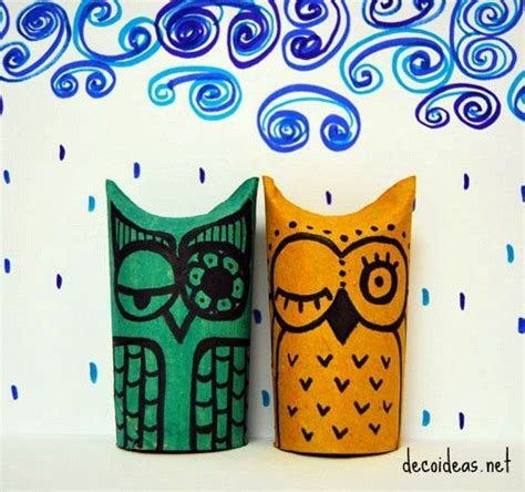 How To Make Owls Out Of Toilet Paper Rolls - owl toilet paper roll project diy