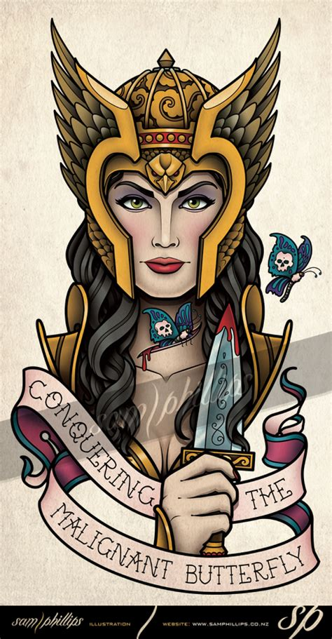 valkyrie cancer tattoo by sam phillips nz on deviantart