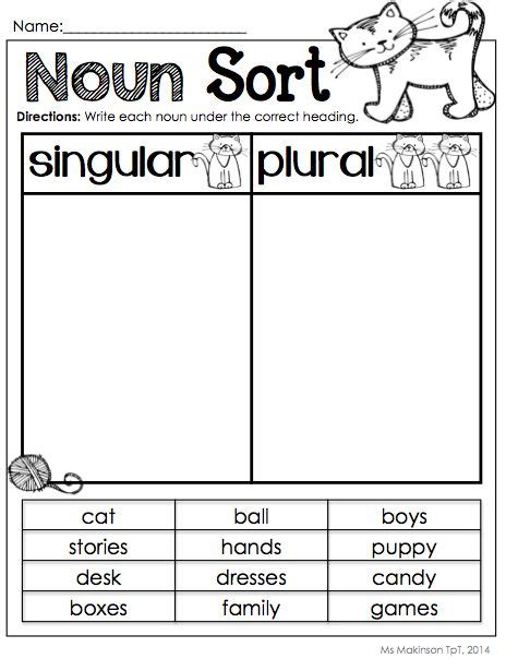 Singular And Plural Nouns Worksheets by 1000 Ideas About Plural Nouns On Irregular