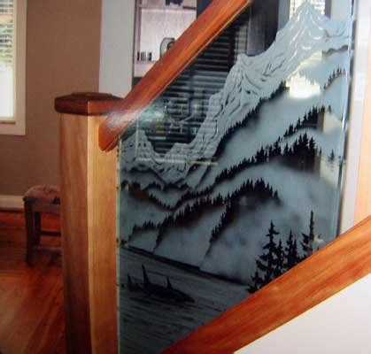 Custom Home Interior Design Custom Etched Carved And Sandblasted Glass Designs For