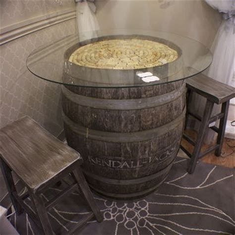 wine barrel kitchen table wine barrel table with glass top furniture