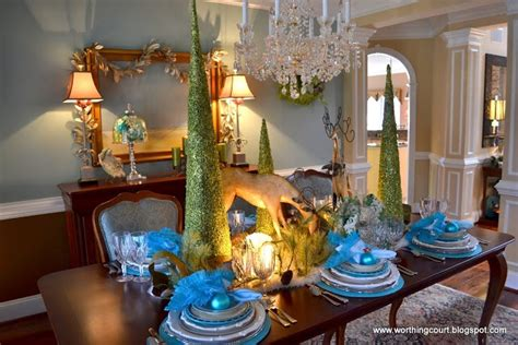 elegant tablescapes dining room tablescapes pinterest my christmas tablescape via worthing court blog