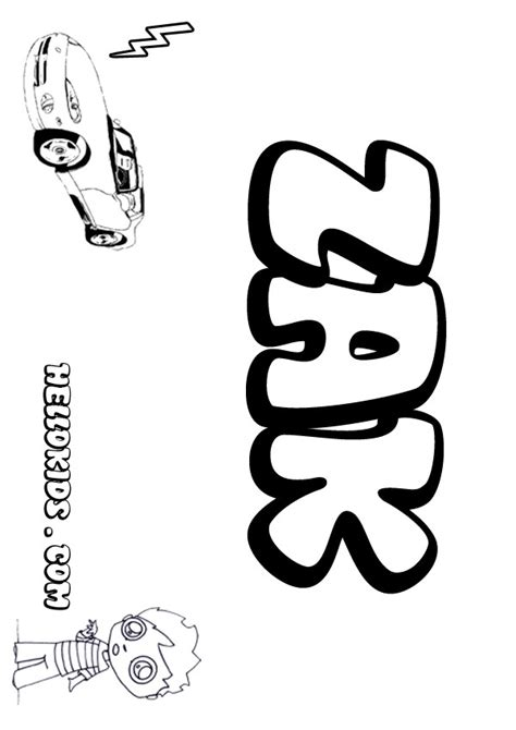 Kids Name Coloring Pages Zak Boy Name To Color Name Coloring Pages To Print Out
