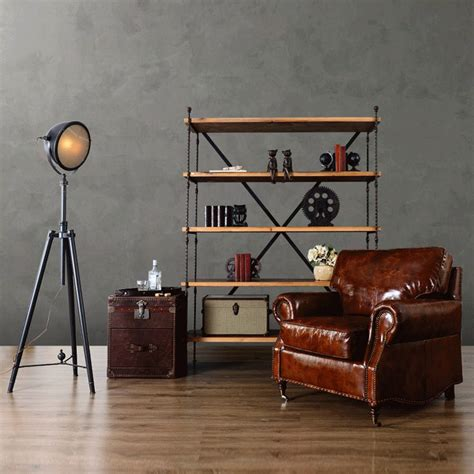 Industrial Loft Furniture by European Industrial Loft Style Living Room Furniture Home Retro Shelves Multilayer Wood