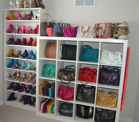 shoe and purse storage ravishing walk in closet with white shoe rack and handbag