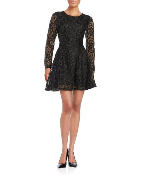 design lab floral dress lord taylor floral lace dress in black save 63 lyst