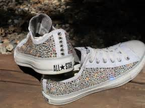 Bedazzled Boots And Sparkly Surgical Shoes Rhinestone Converse Allstars Not Including By