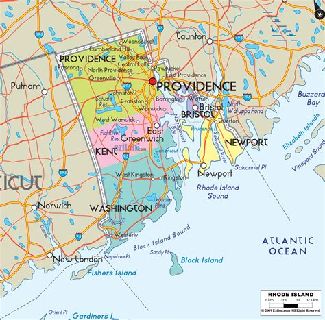 map of ri island rhode island