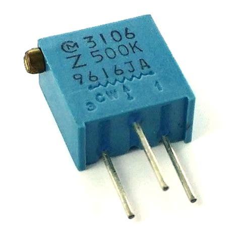500k ohm resistor 500k ohm variable resistor murata trimpot pot3106z 1 504 west florida components