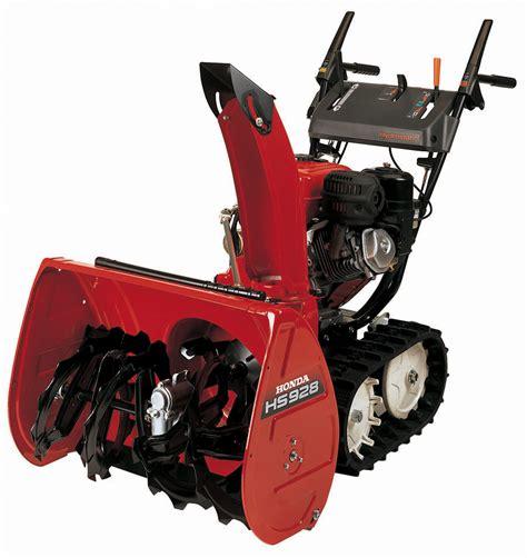 honda hs928 track drive snowblower