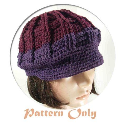 crochet pattern only crochet hat pattern newsboy pakbit for