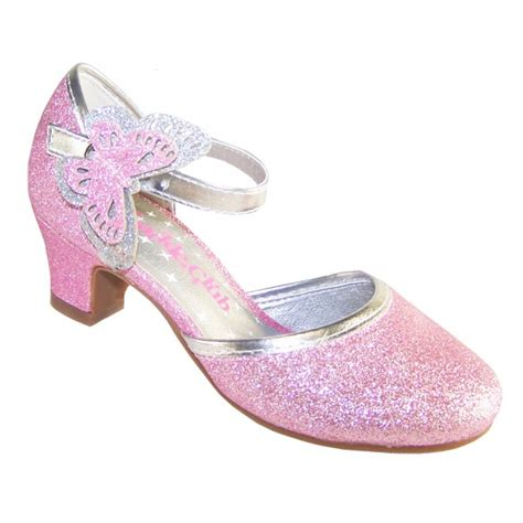 sparkly pink heeled shoes