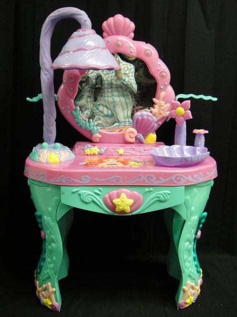 Disney Princess Magical Talking Vanity Disney Princess Ariel Mermaid Magical Vanity Talking Salon Ebay