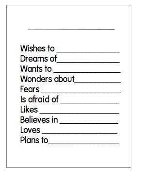 bio poem worksheet facialreviveserum com 1000 images about therapy worksheets on pinterest