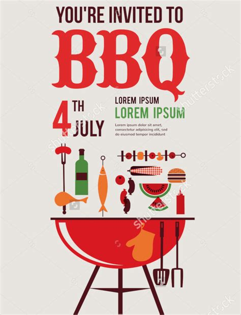 17 bbq invitation templates psd vector eps