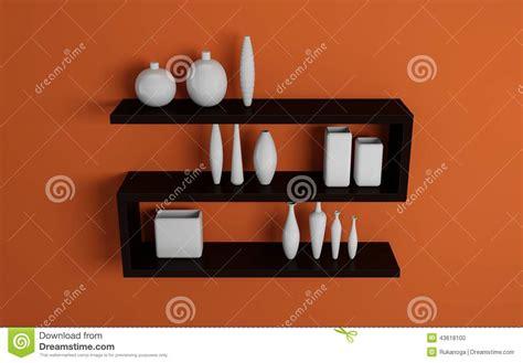scaffali moderni mensole moderne illustrazione di stock immagine 43618100