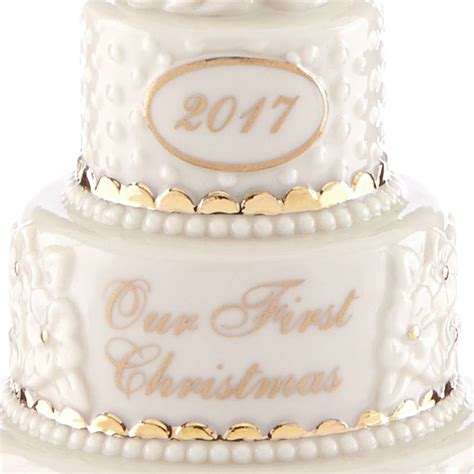Wedding Cake Ornament by Our Ornament 2017 Wedding Cake Lenox