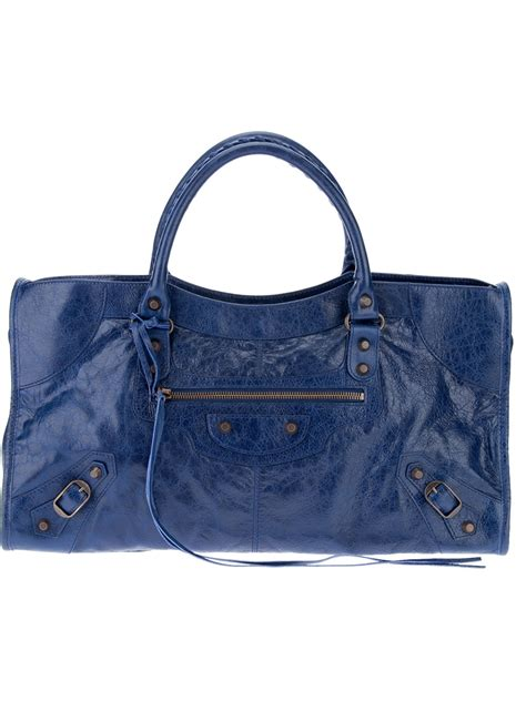 Balenciaga The Shoulder by Balenciaga Shoulder Tote In Blue Lyst