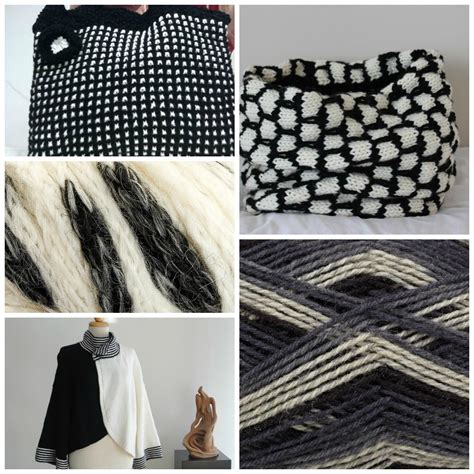 black and white knit pattern black and white knitting the latest trend in knitwear