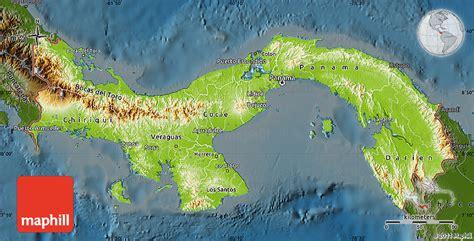 physical map of panama physical map of panama darken