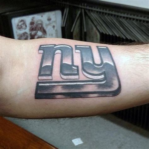 ny giants tattoo 70 football tattoos for nfl ink design ideas